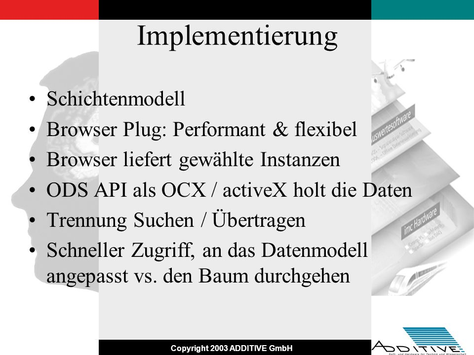 Implementierung Schichtenmodell Browser Plug: Performant & flexibel
