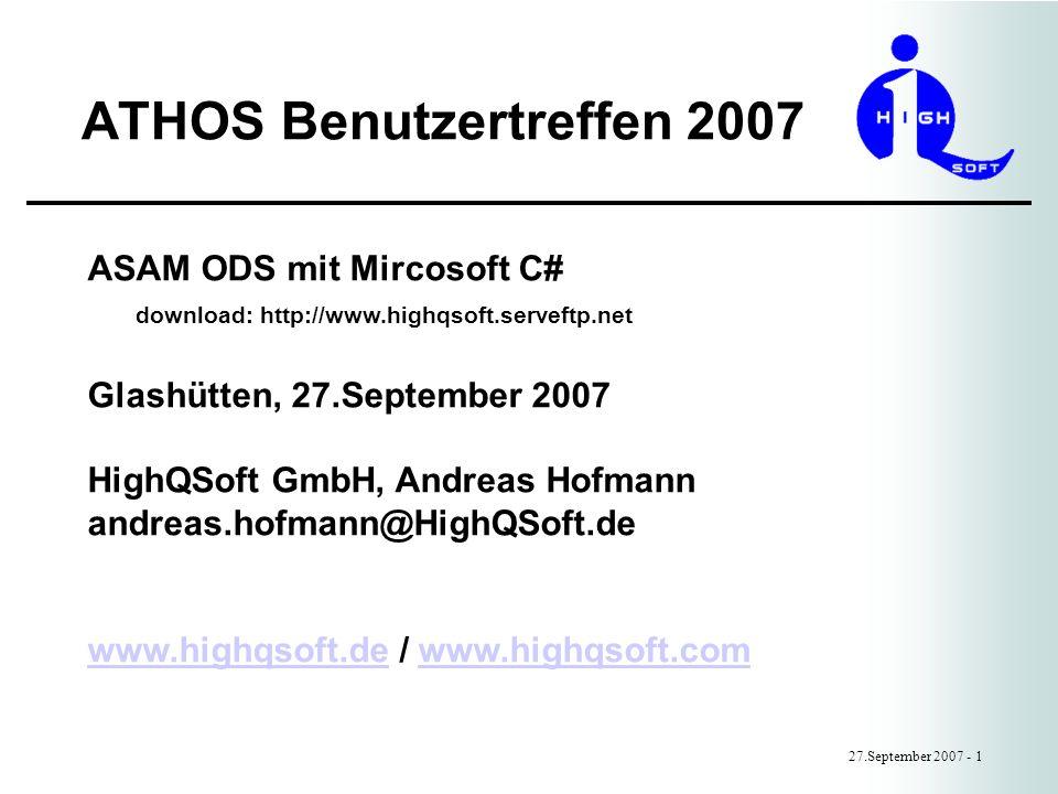 ATHOS Benutzertreffen 2007