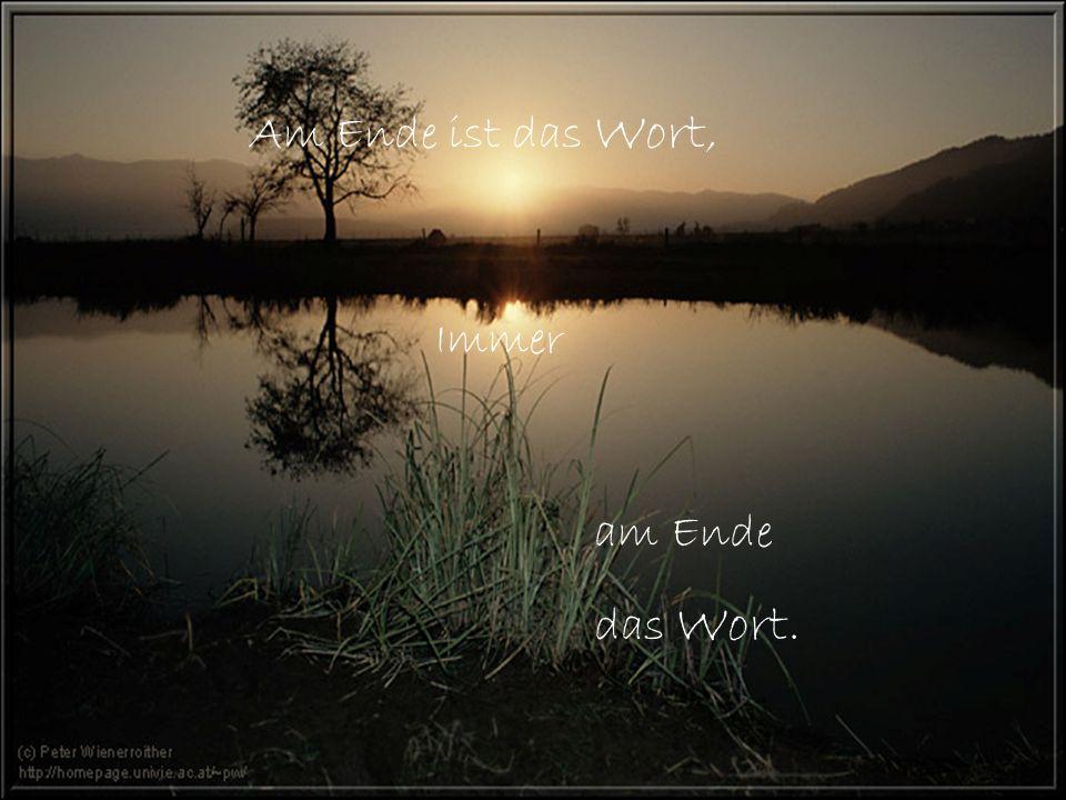 Am Ende ist das Wort, Immer am Ende das Wort.