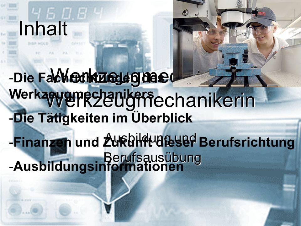 Werkzeugmechaniker/ Werkzeugmechanikerin
