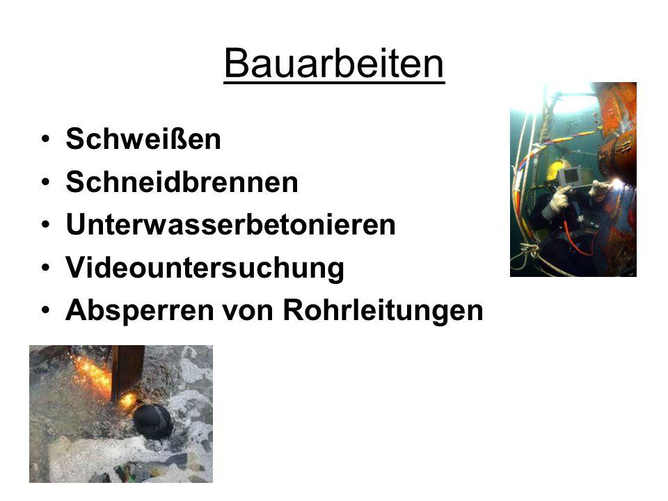 Bauarbeiten Schweißen Schneidbrennen Unterwasserbetonieren
