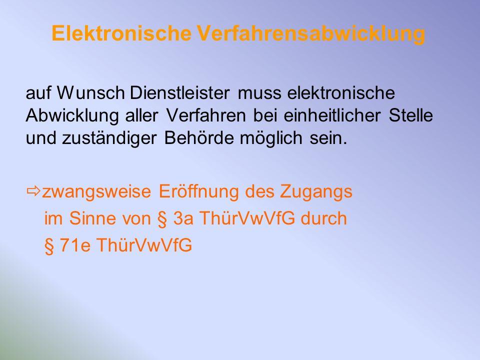 Elektronische Verfahrensabwicklung