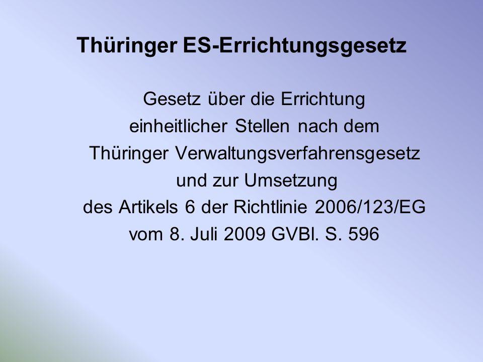 Thüringer ES-Errichtungsgesetz