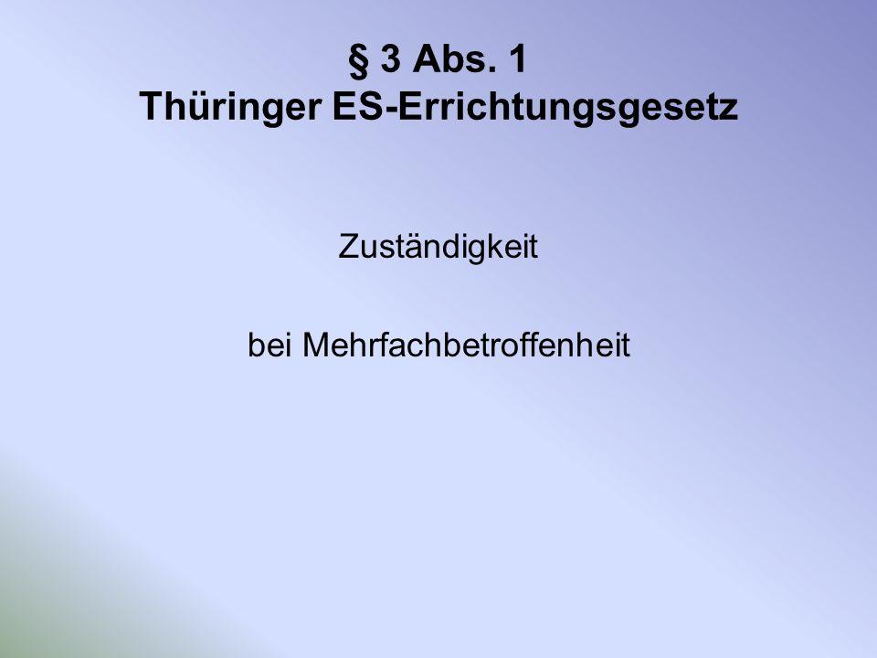 § 3 Abs. 1 Thüringer ES-Errichtungsgesetz