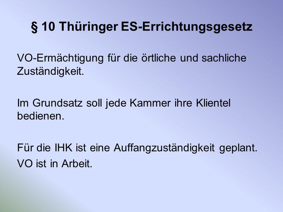 § 10 Thüringer ES-Errichtungsgesetz