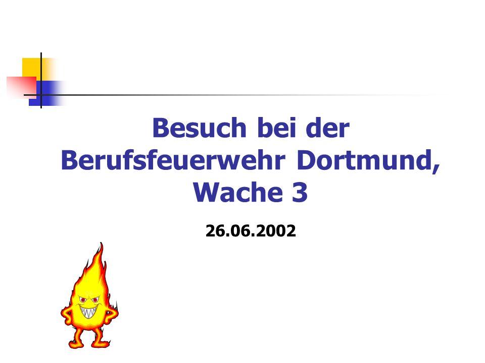 Besuch bei der Berufsfeuerwehr Dortmund, Wache 3