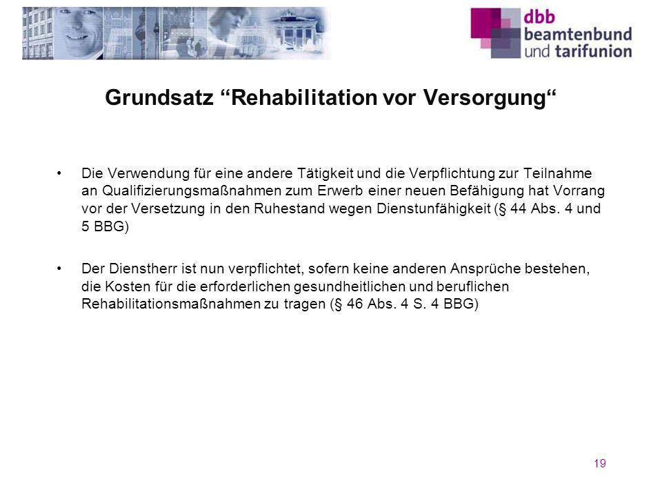 Grundsatz Rehabilitation vor Versorgung
