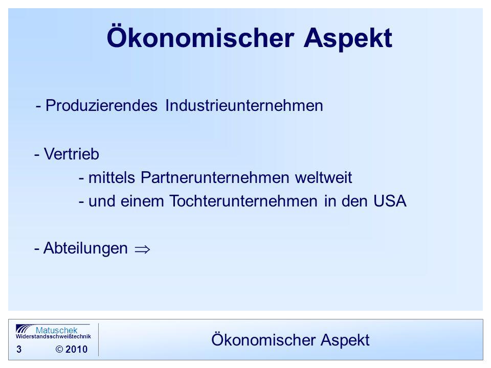 Ökonomischer Aspekt - Produzierendes Industrieunternehmen - Vertrieb