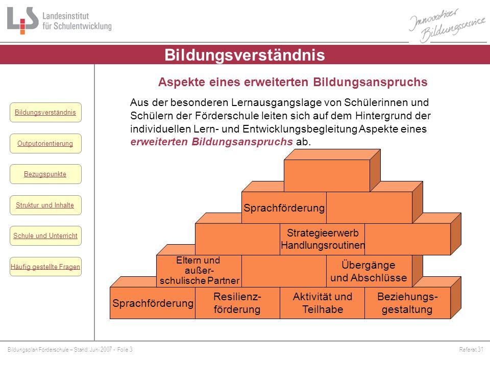 Bildungsverständnis Aspekte eines erweiterten Bildungsanspruchs