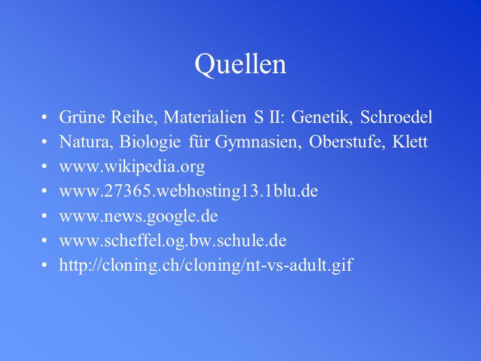 Quellen Grüne Reihe, Materialien S II: Genetik, Schroedel