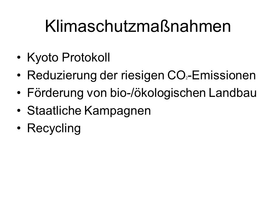 Klimaschutzmaßnahmen