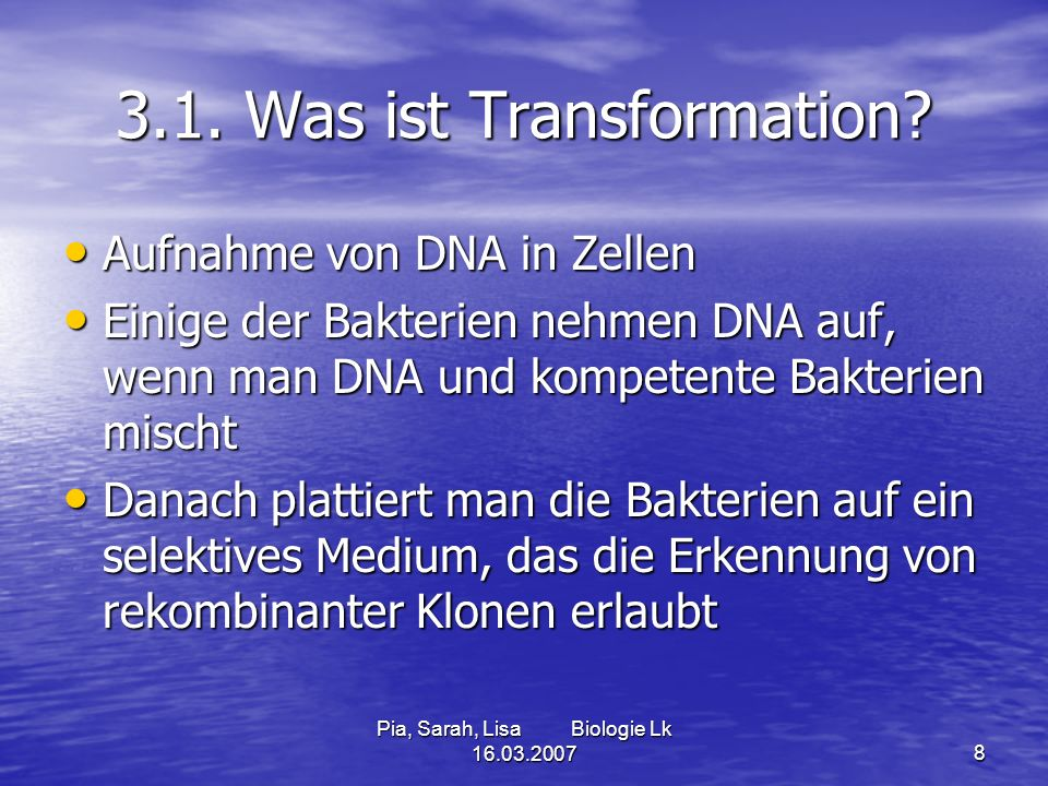 3.1. Was ist Transformation
