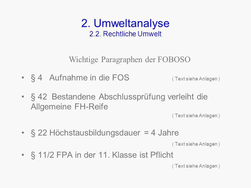 2. Umweltanalyse 2.2. Rechtliche Umwelt