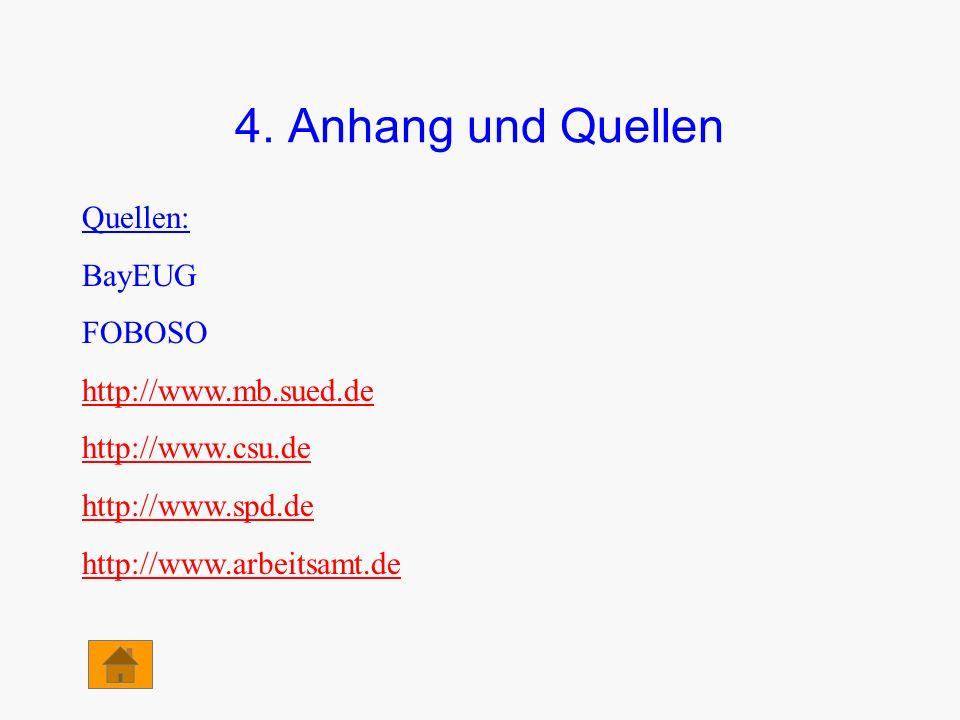 4. Anhang und Quellen Quellen: BayEUG FOBOSO http://www.mb.sued.de