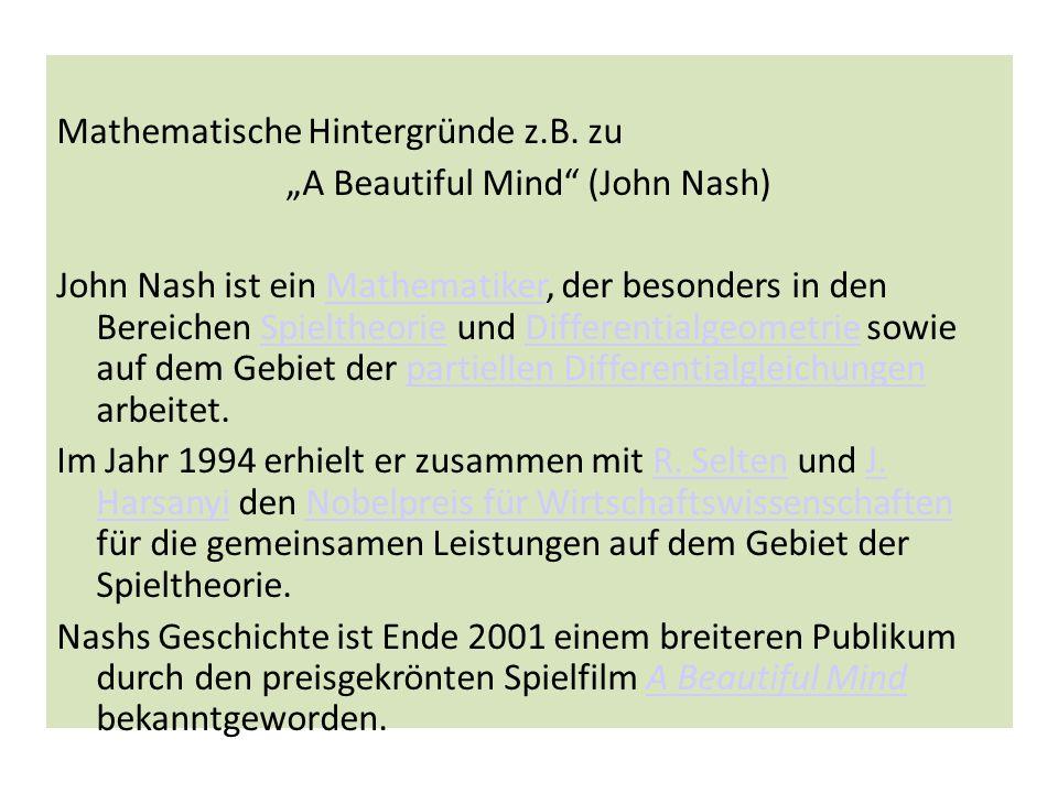 """""""A Beautiful Mind (John Nash)"""