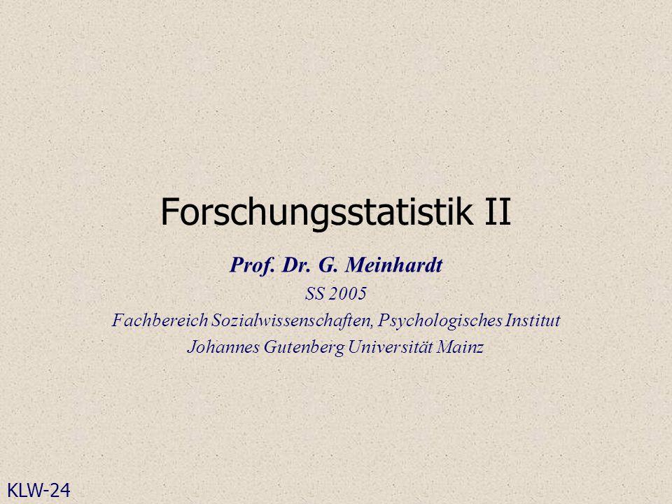 Forschungsstatistik II