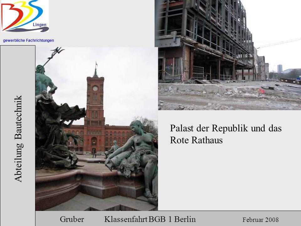 Palast der Republik und das Rote Rathaus