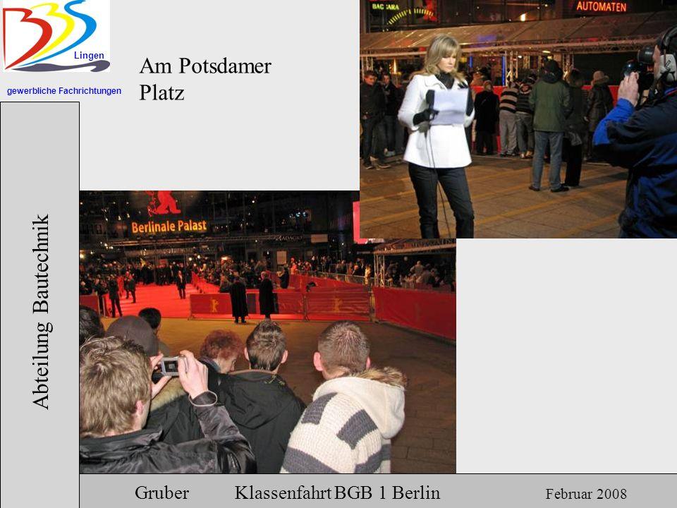 Am Potsdamer Platz Abteilung Bautechnik