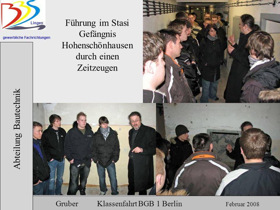Führung im Stasi Gefängnis Hohenschönhausen durch einen Zeitzeugen