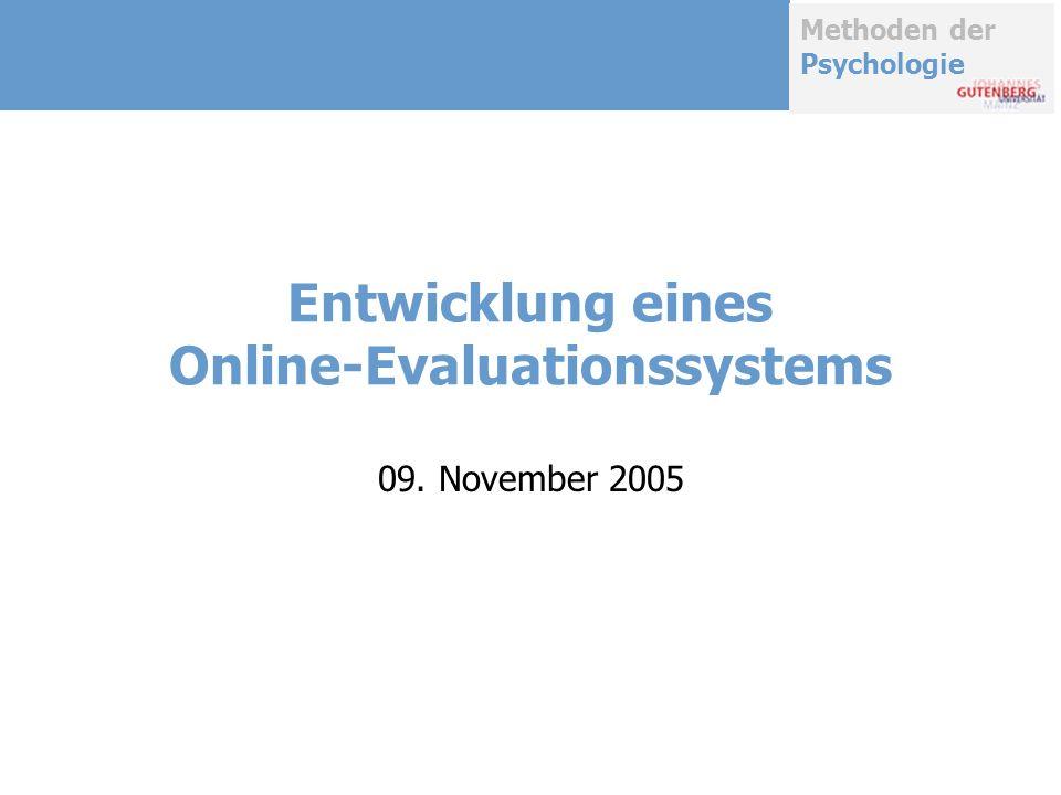 Entwicklung eines Online-Evaluationssystems