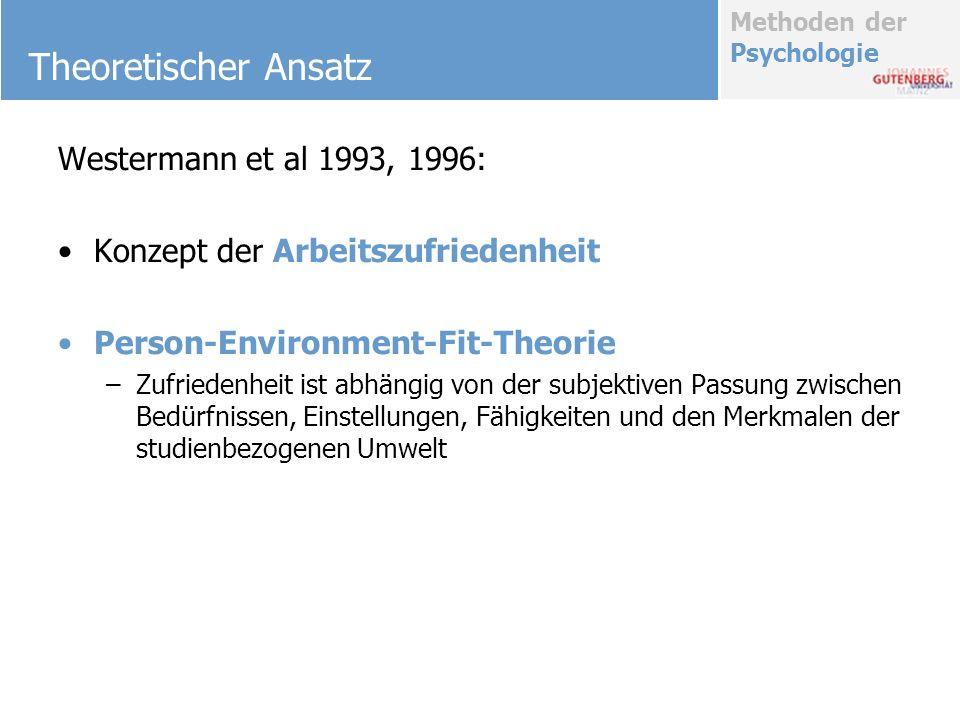 Theoretischer Ansatz Westermann et al 1993, 1996: