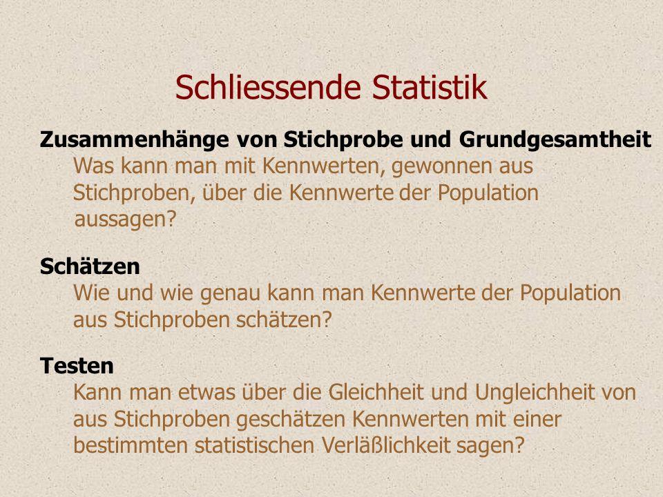 Schliessende Statistik