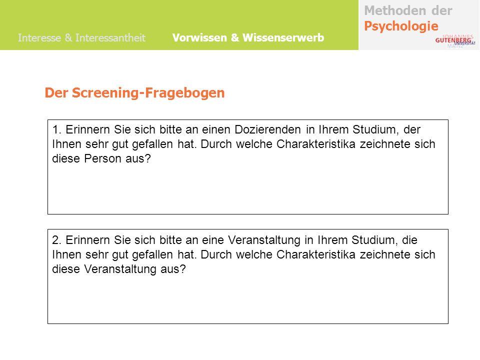 Der Screening-Fragebogen