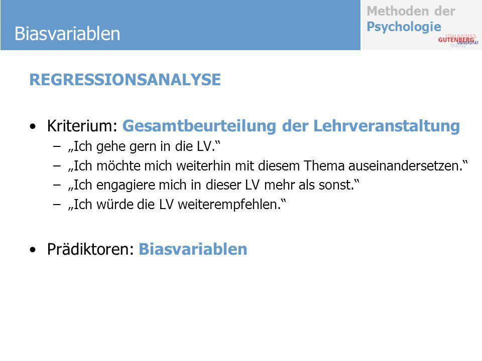 Biasvariablen REGRESSIONSANALYSE