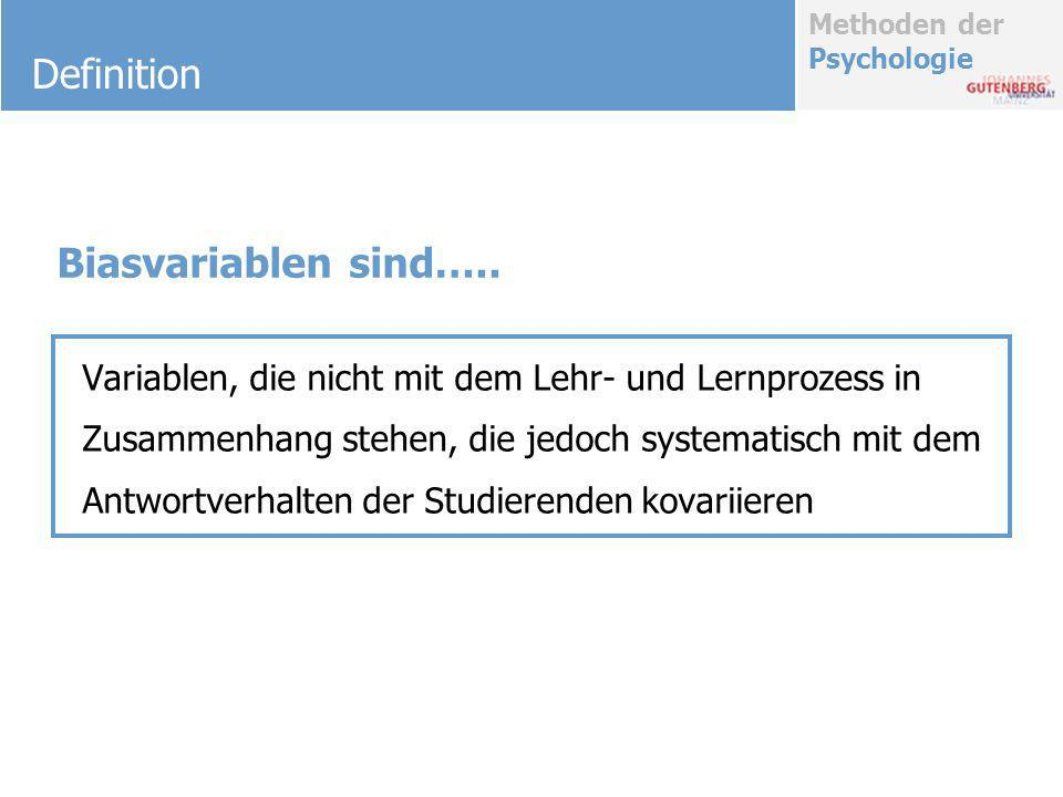 Definition Biasvariablen sind…..