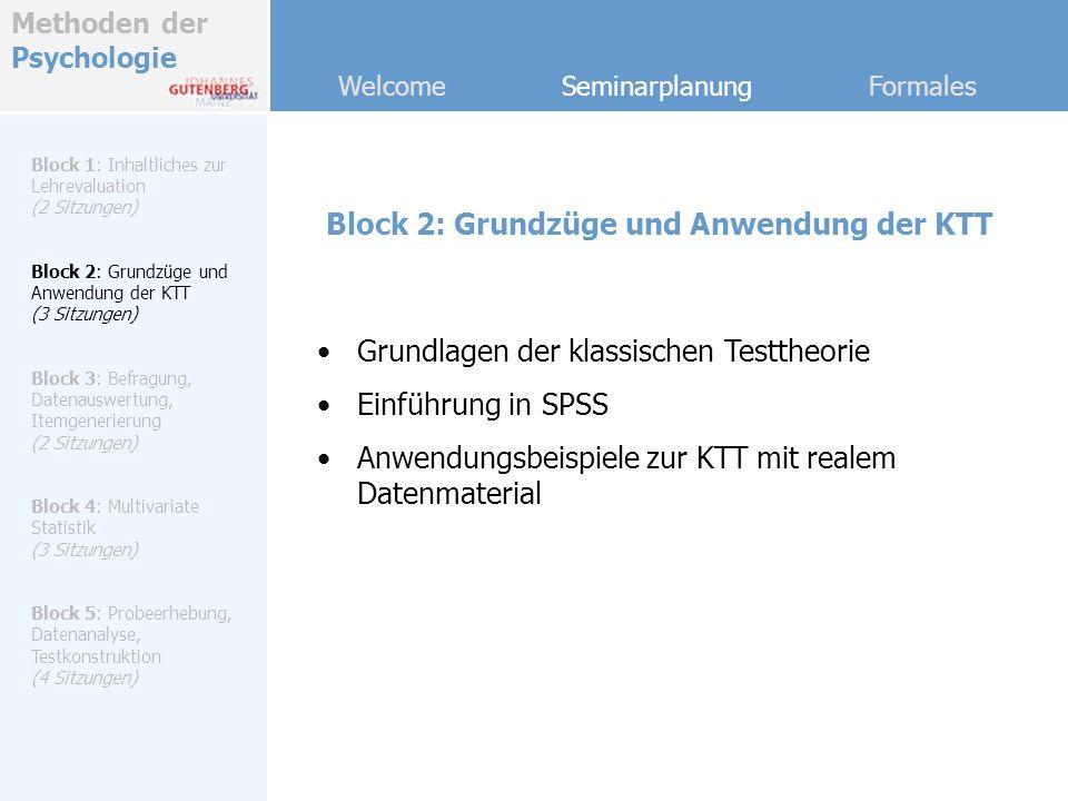 Block 2: Grundzüge und Anwendung der KTT