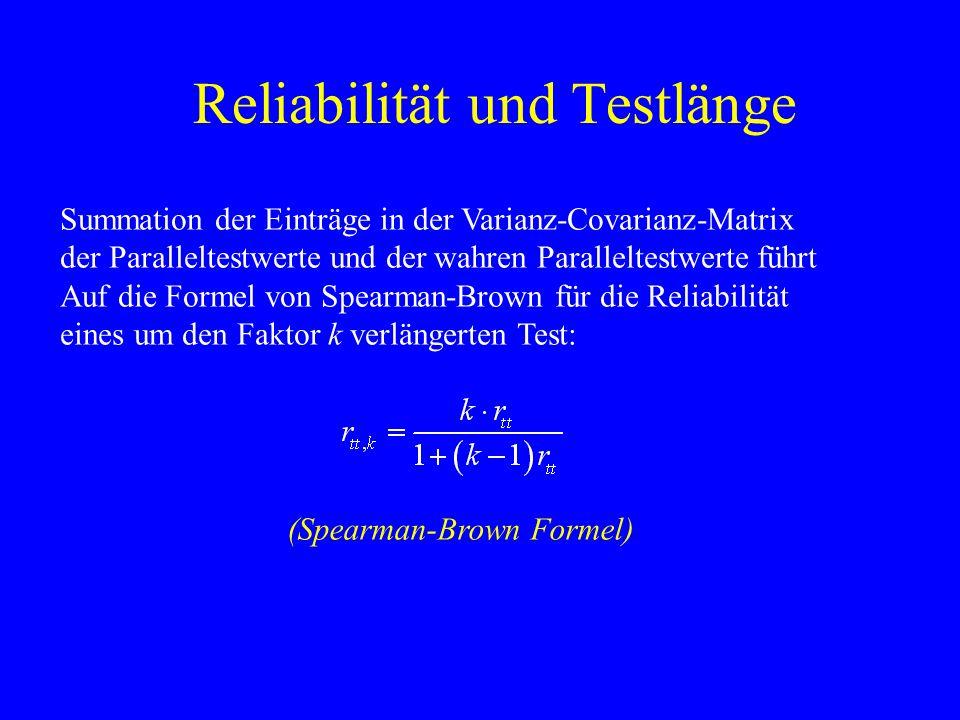 Reliabilität und Testlänge