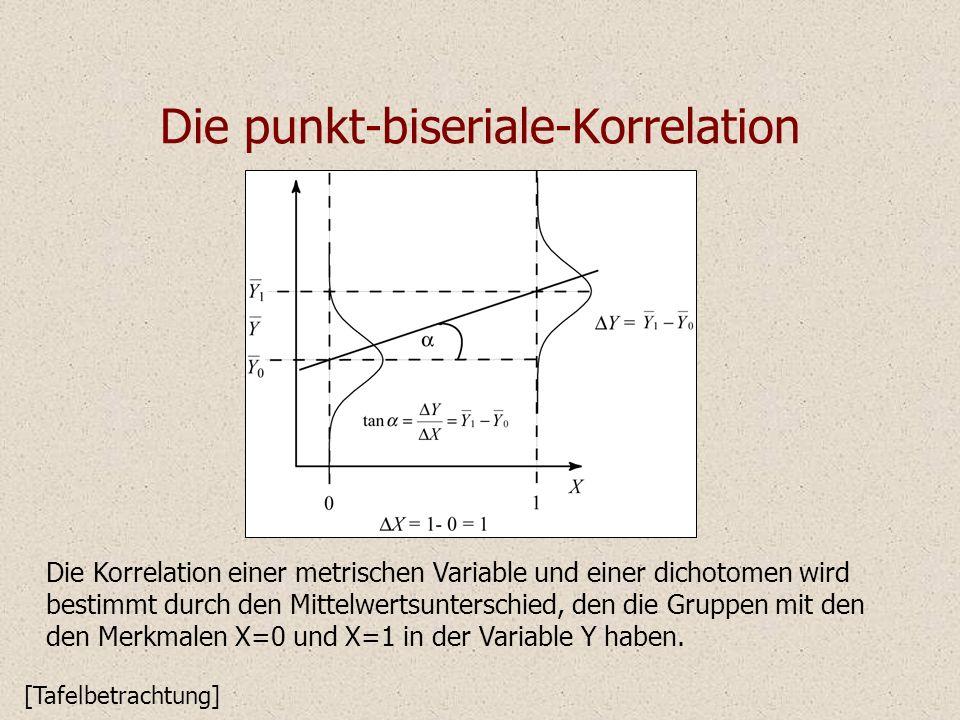 Die punkt-biseriale-Korrelation