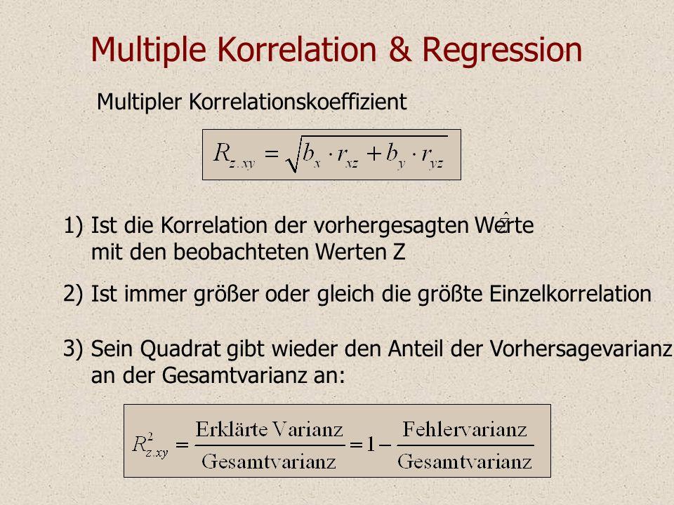 Multiple Korrelation & Regression