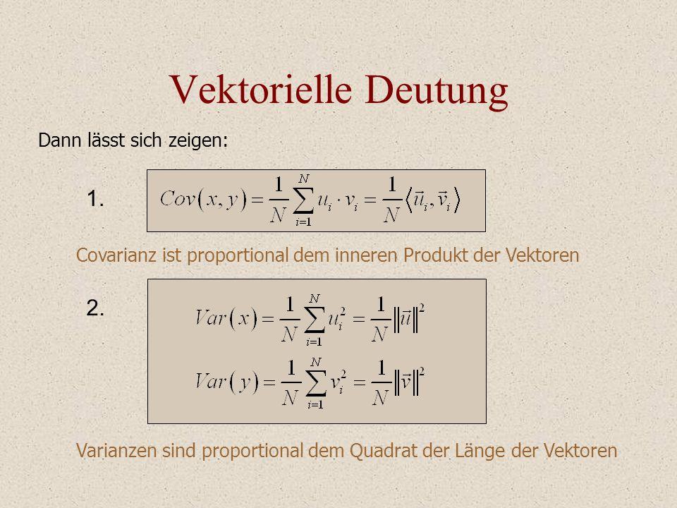 Vektorielle Deutung 1. 2. Dann lässt sich zeigen: