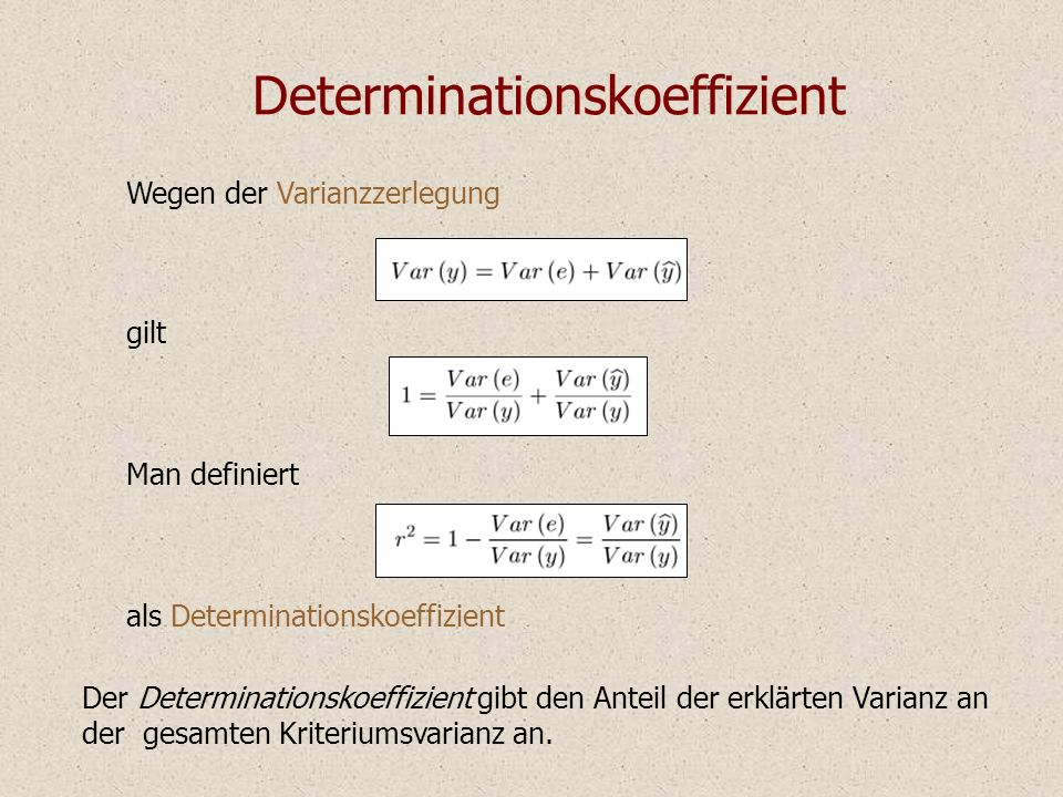 Determinationskoeffizient