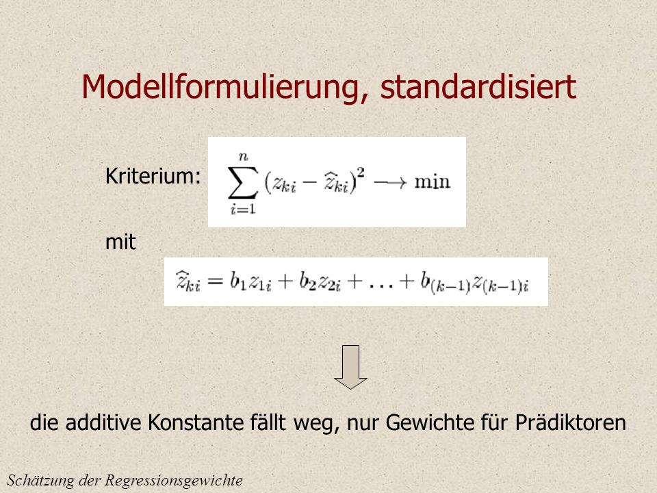 Modellformulierung, standardisiert