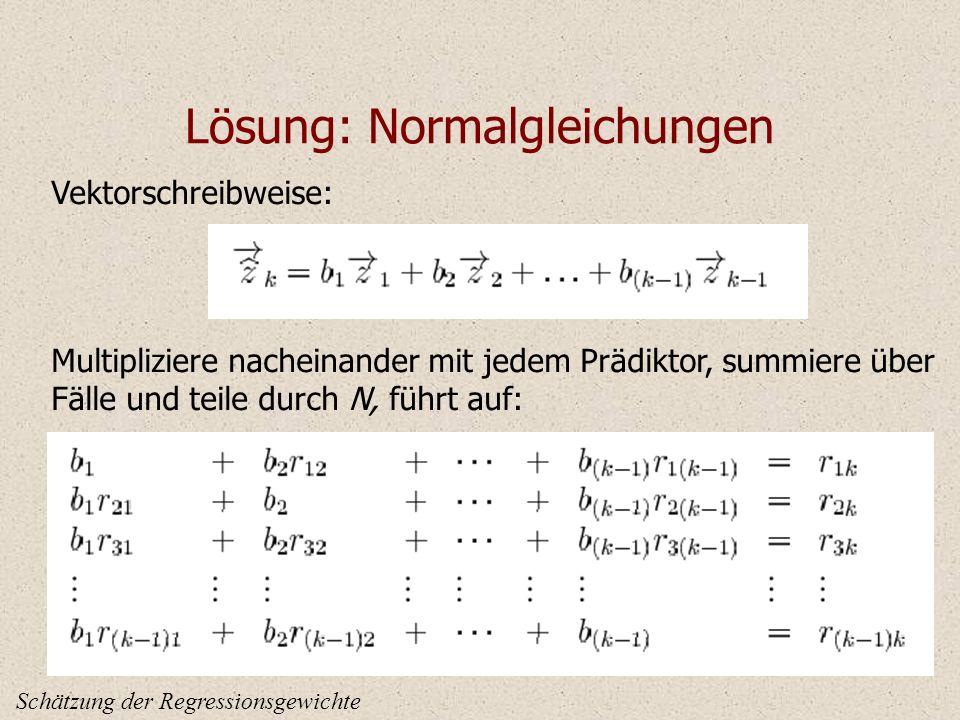 Lösung: Normalgleichungen
