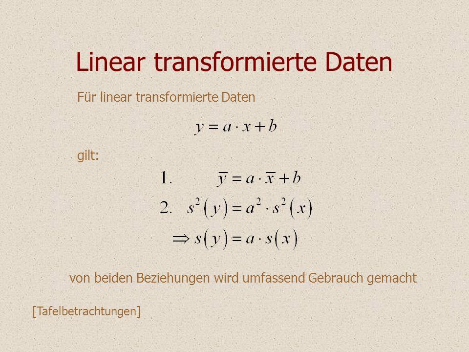 Linear transformierte Daten