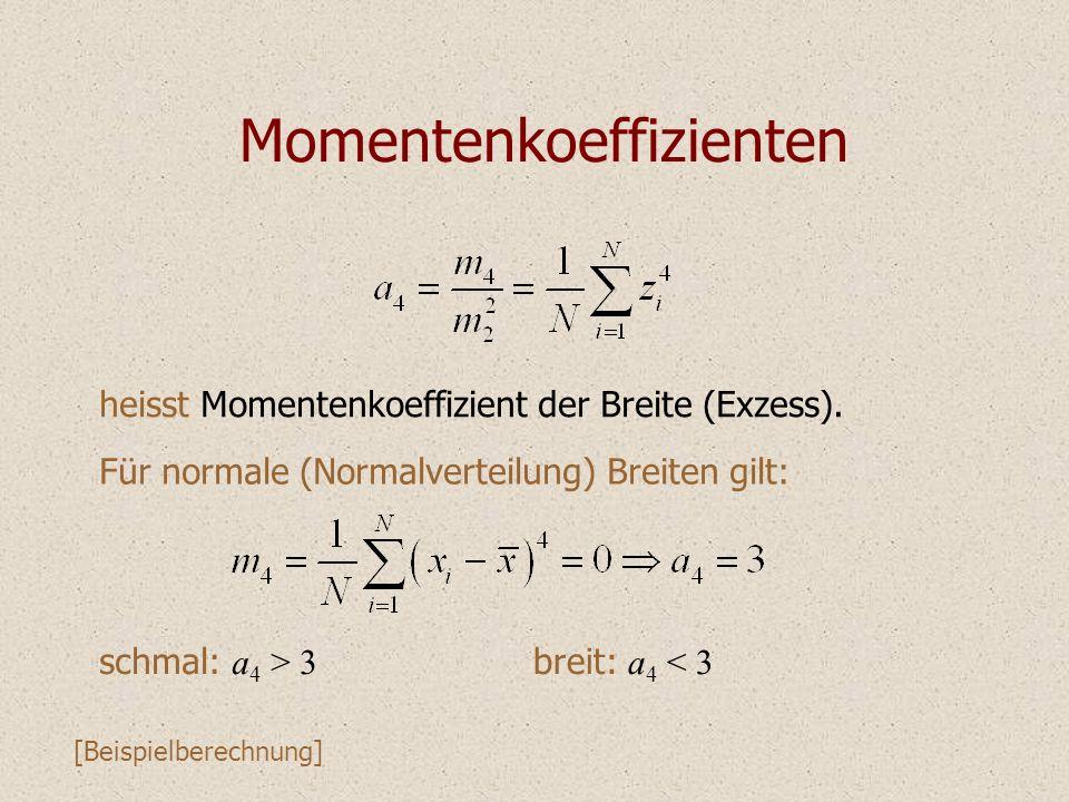 Momentenkoeffizienten