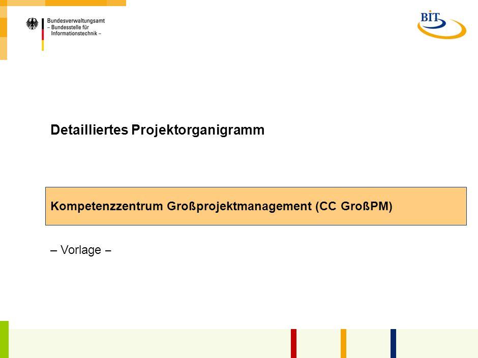 Detailliertes Projektorganigramm
