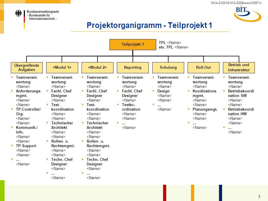 Projektorganigramm - Teilprojekt 1
