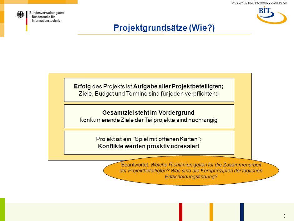 Projektgrundsätze (Wie )