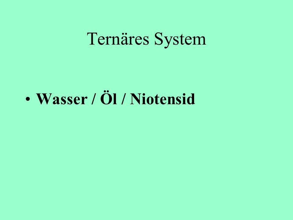 Ternäres System Wasser / Öl / Niotensid