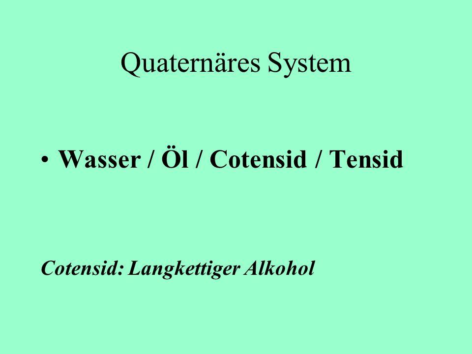 Quaternäres System Wasser / Öl / Cotensid / Tensid