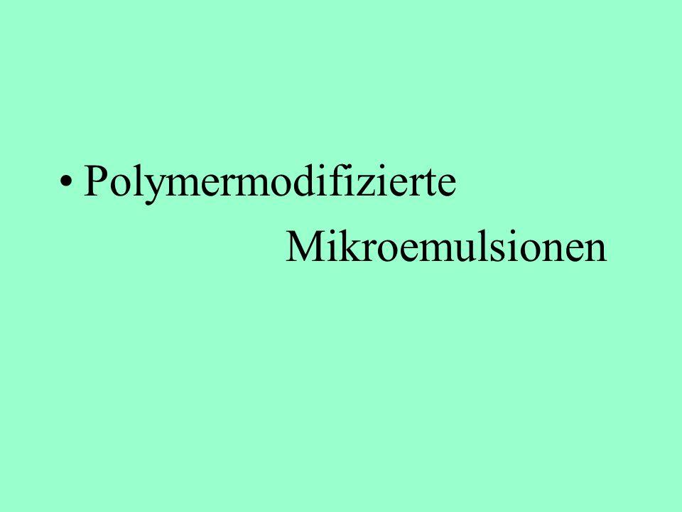 Polymermodifizierte Mikroemulsionen