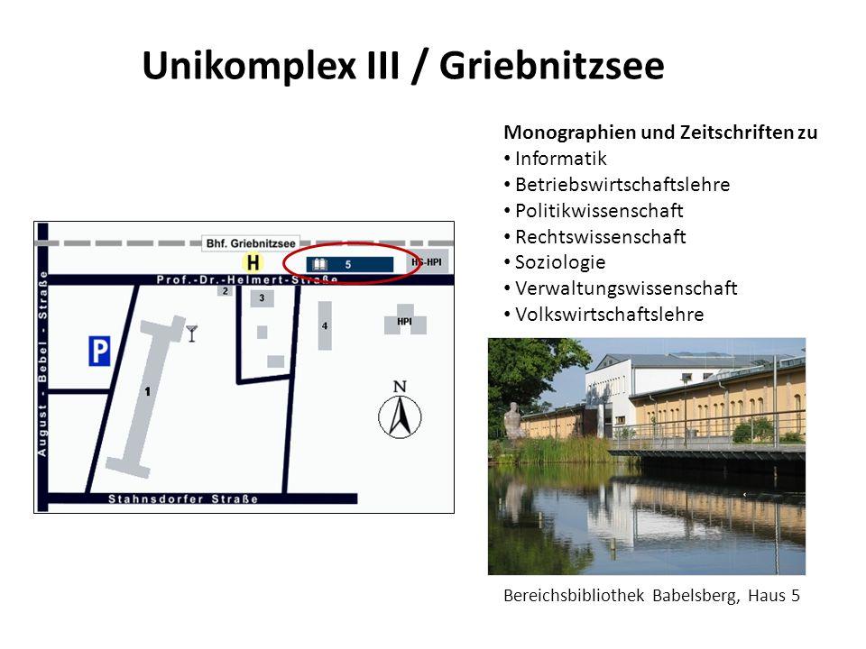 Unikomplex III / Griebnitzsee