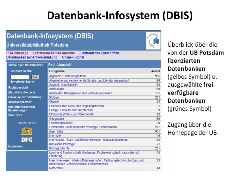 Datenbank-Infosystem (DBIS)