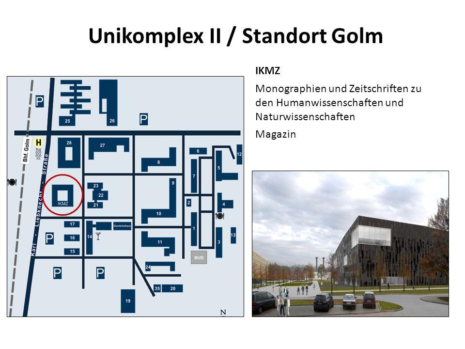Unikomplex II / Standort Golm