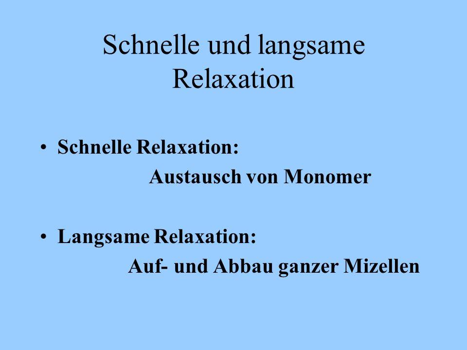 Schnelle und langsame Relaxation
