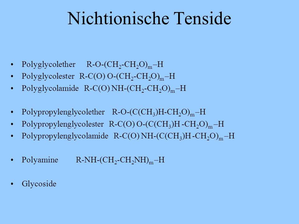 Nichtionische Tenside